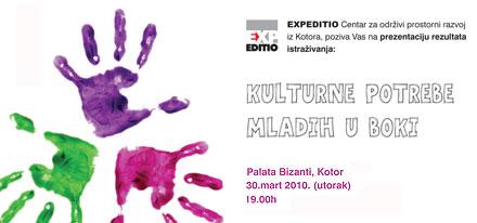 Cultural needs of youth in Boka Kotorska